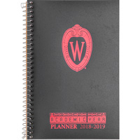 Image For Roaring Springs Wisconsin Shield W Planner (Black)