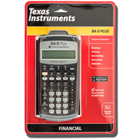 Image For TI BA-II+ Financial Calculator