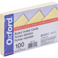 Cover Image For 4X6 Ruled Index Cards (Canary)