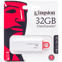Image For Kingston Technology 32GB DataTraveler USB Drive (White)