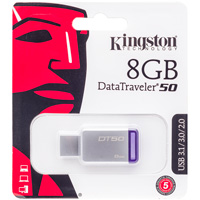 Image For Kingston Technology 8GB DataTraveler USB Drive (Silver)