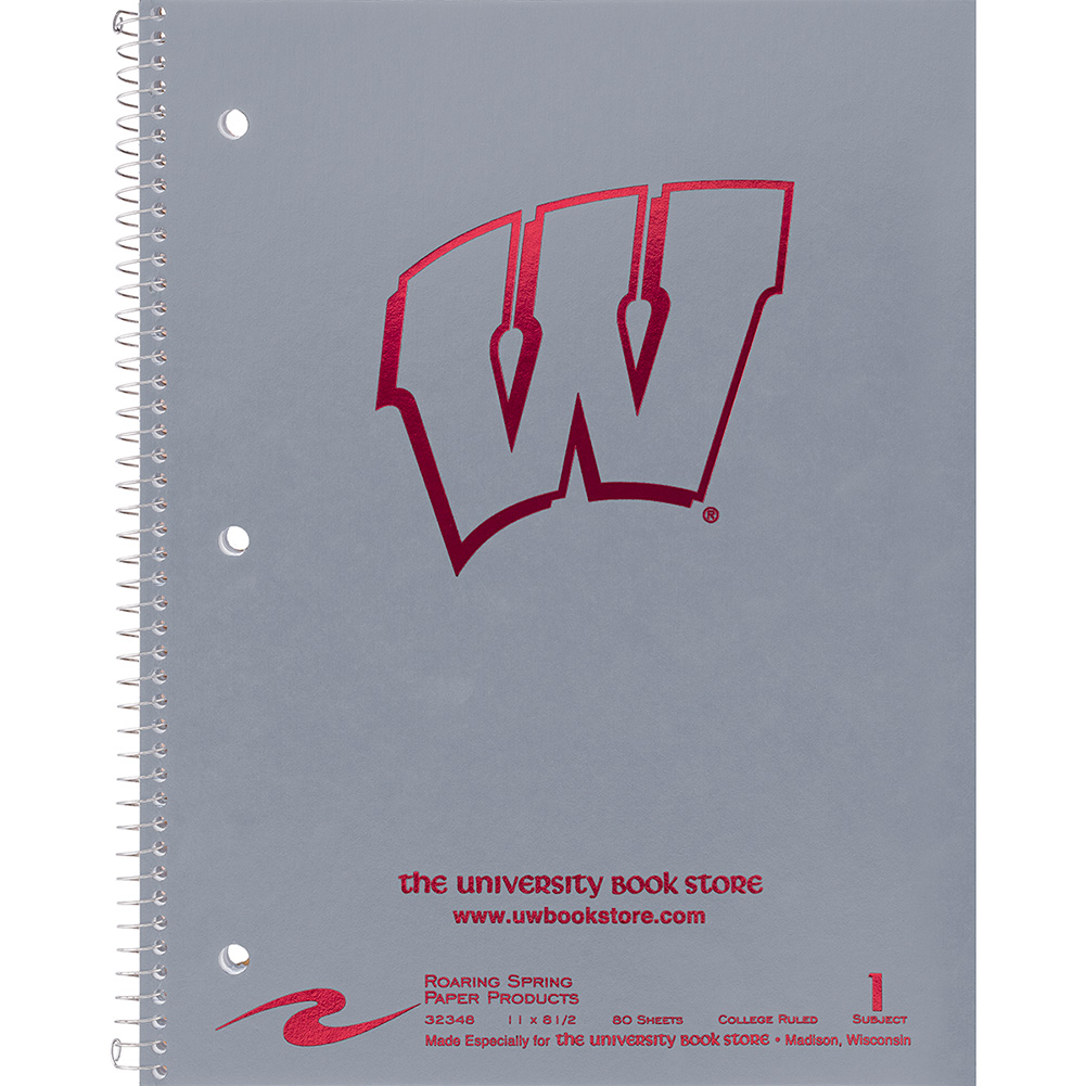 Roaring Spring UW Notebook - College Ruled (Grey