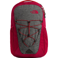 Image For The North Face Jester Backpack (Grey Heather/Cardinal Red)