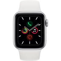 Image For APPLE WATCH SERIES 5 40MM SILVER ALUMINUM CASE - SPORT BAND