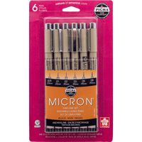 Image For Pigma Micron Pen 6-Pack