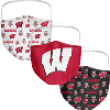 Fan Wisconsin Badgers 3-Pack Face Masks Image