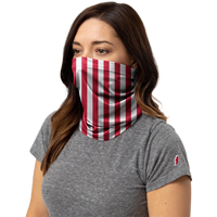 Image For League Everyday Gaiter Striped (Red/White)