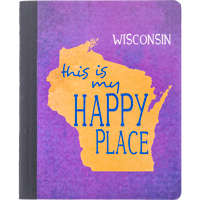 Cover Image For Barcharts, Inc. Wisconsin Happy Place Notebook