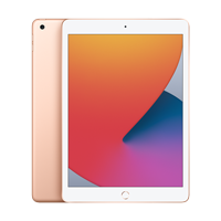 "Image For Apple iPad 10.2"" 8th-Gen 128GB; Wi-Fi (Gold)"